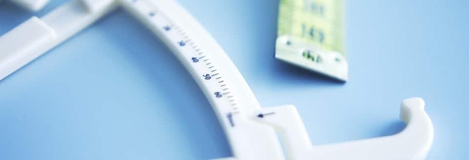 vetpercentage meten door een huidplooimeting