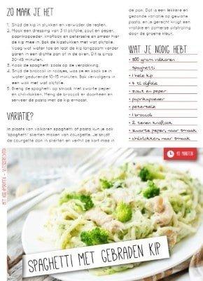 afslank receptenbijbel spaghetti recept