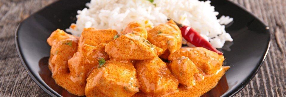 koolhydraatarme kip curry