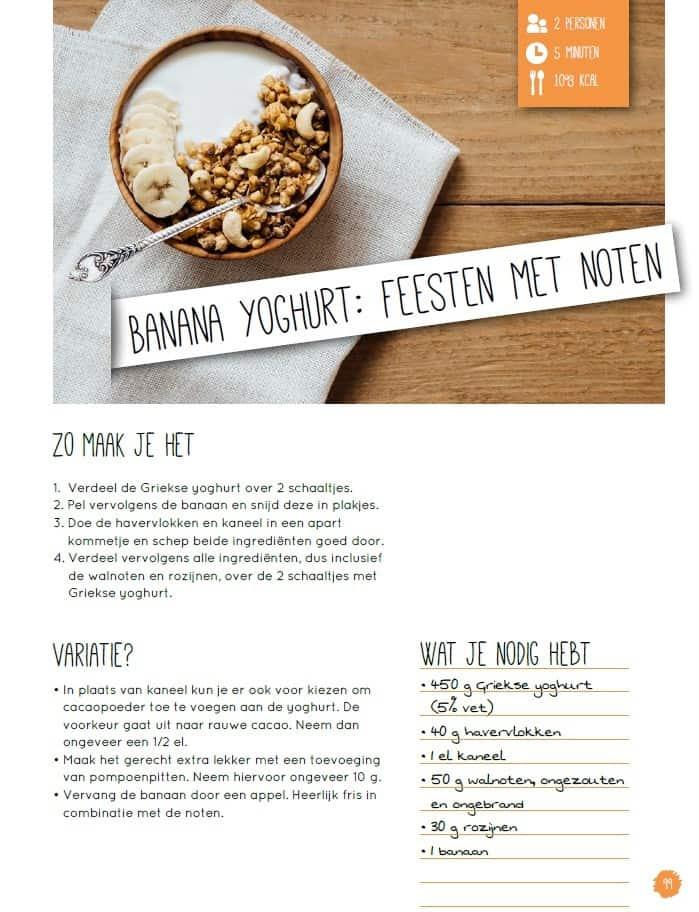 Strakke Buik Bijbel Banana Yoghurt Recept