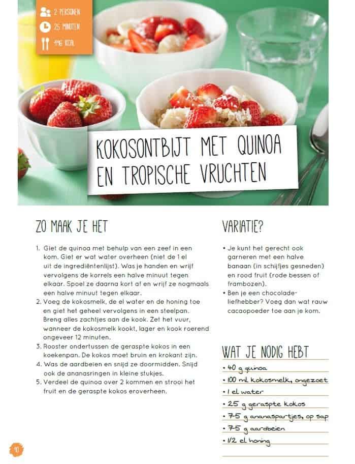Strakke Buik Bijbel Kokosontbijt Recept