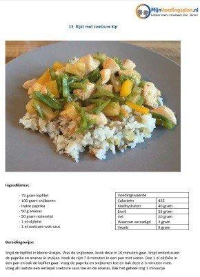 Online afvallen recept rijst met zoetzure kip