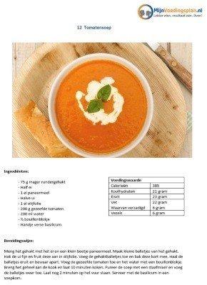 mijn voedingsplan tomatensoep recept