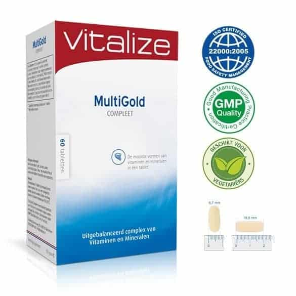 Het beste vitamine D supplement - Vitalize Multigold Compleet
