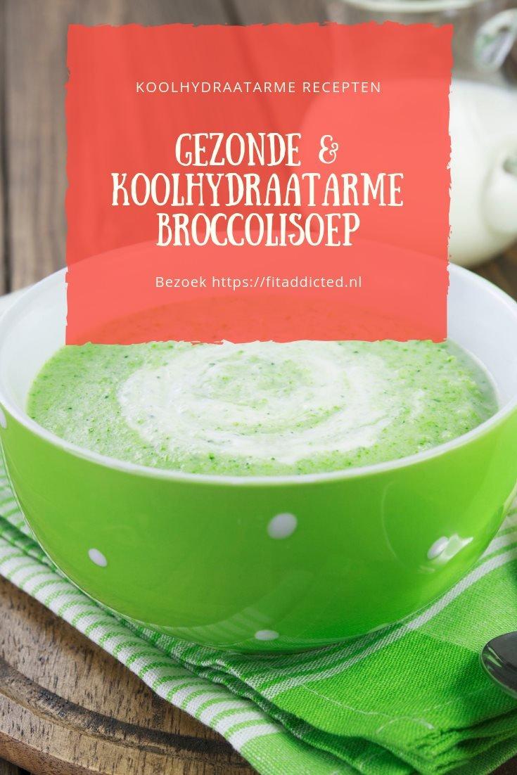 gezonde en koolhydraatarme broccolisoep
