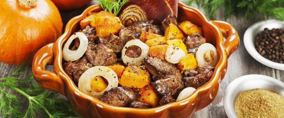 koolhydraatarme stoofpotje met rundvlees en pompoen