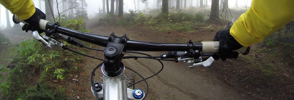 welke spieren train je met fietsen - mountainbiken in het bos