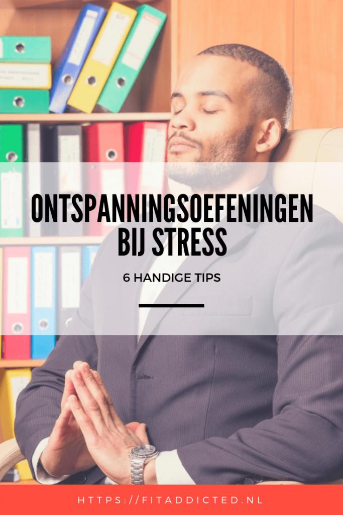 ontspanningsoefeningen bij stress