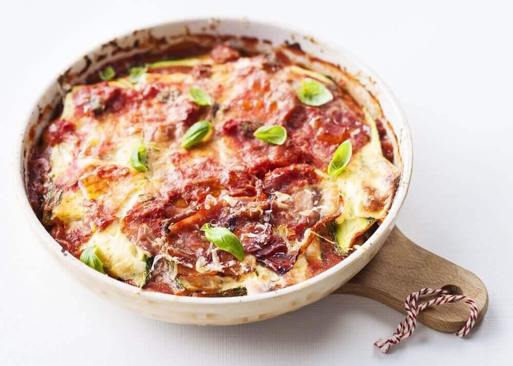 Courgette Lasagne Parmaham recept uit de Afslank Receptenbijbel
