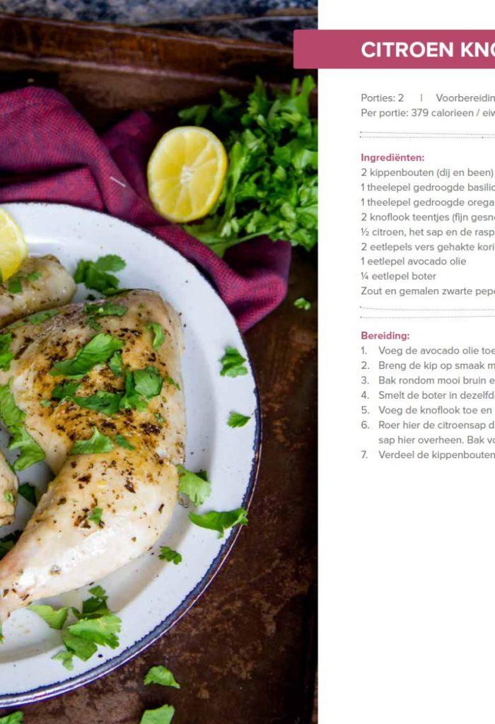 Citroen knoflook kip recept uit de Keto Revolutie receptenboek