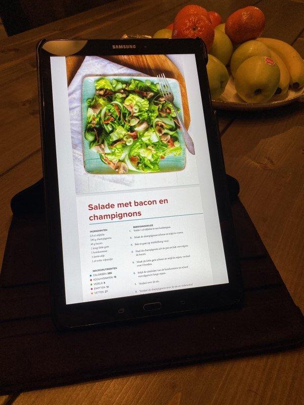 101 keto recepten - Salade met bacon en champignons