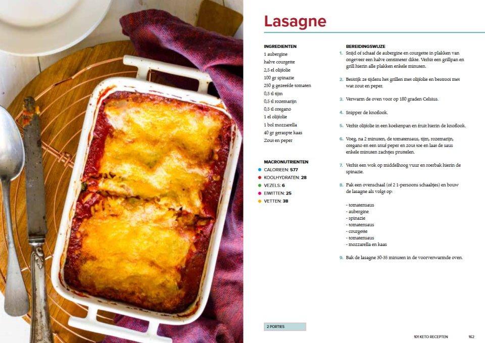 101 keto recepten lasagne recept