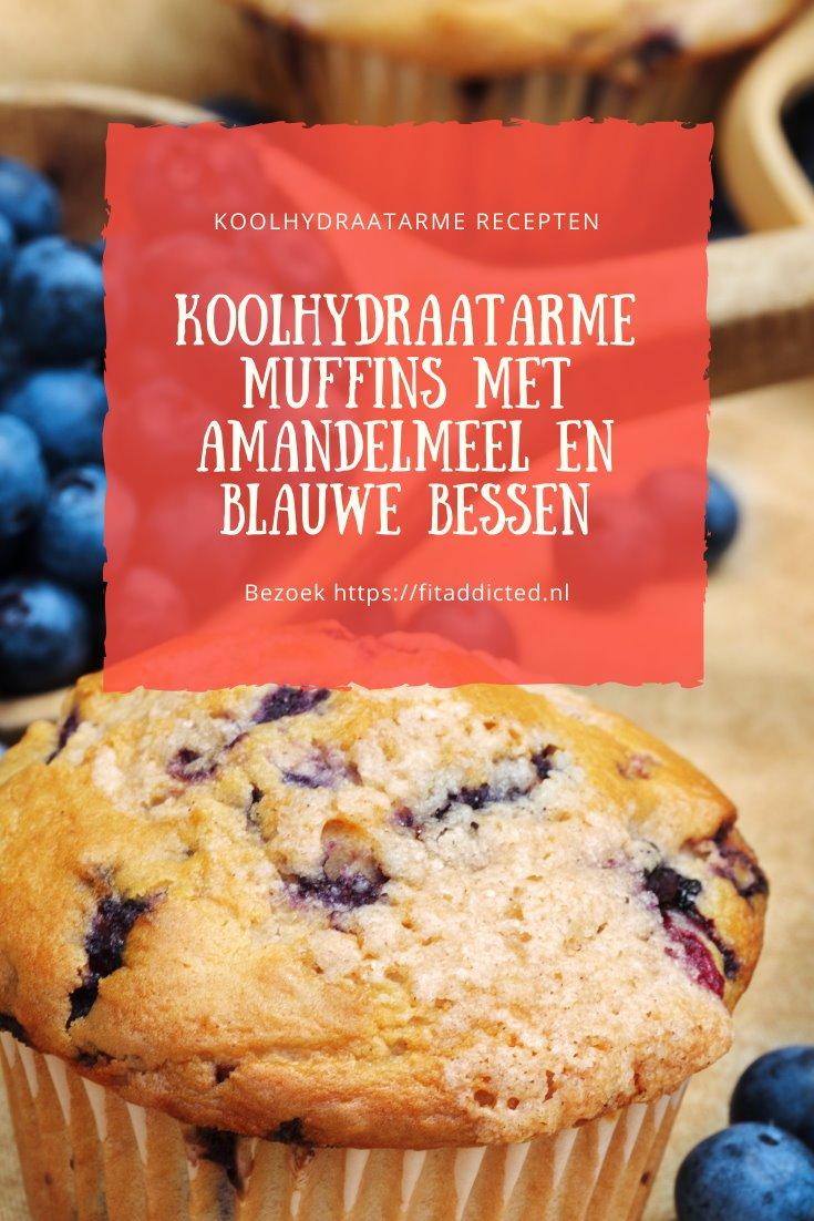 Koolhydraatarme muffins met amandelmeel en blauwe bessen