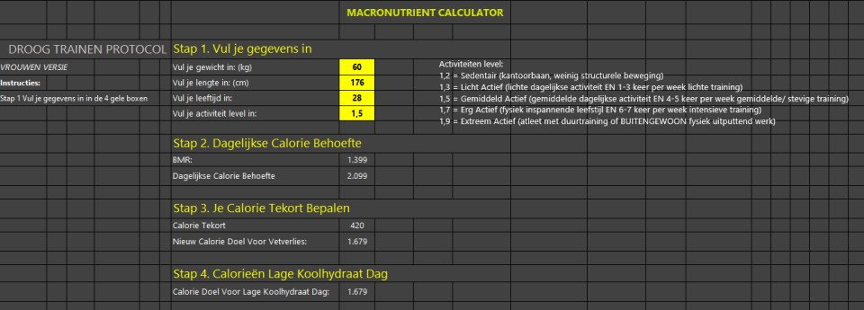 macronutrientencalculator