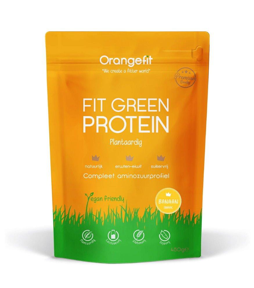 beste plantaardige eiwitshakes - Orangefit Fit Green Protein