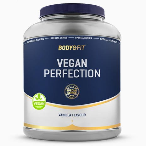 beste plantaardige eiwitpoeder - Vegan perfection van Body & Fit Shop