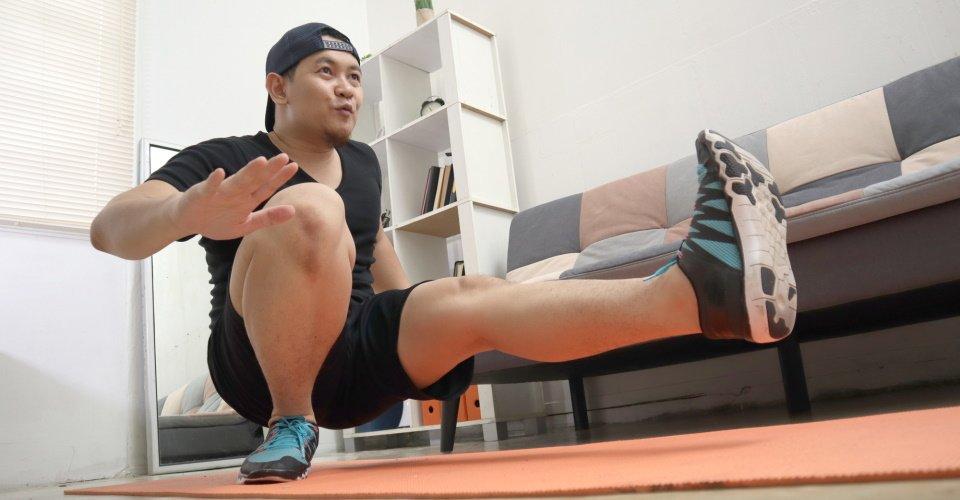 pistol squat een goede squat oefening voor thuis