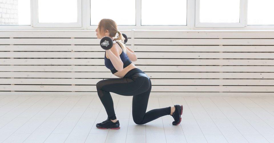 squat oefeningen voor thuis - split squat